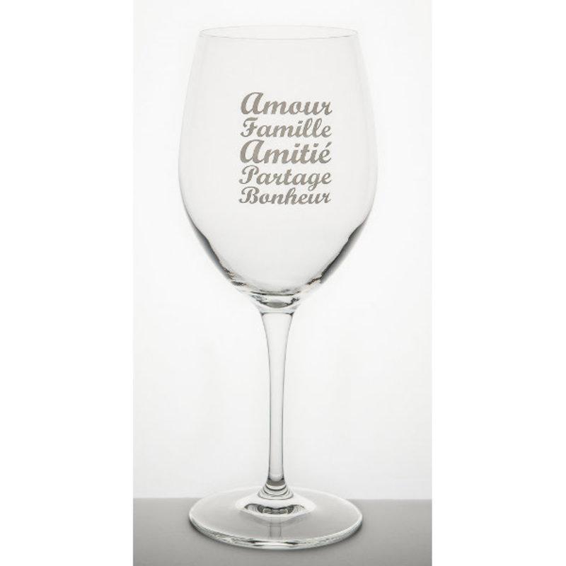 Garçon de Table Verre à vin Garçon de Table Amour ,famille, amitié, partage, bonheur