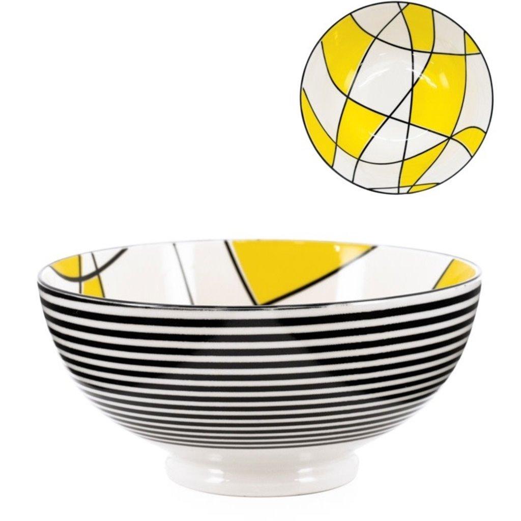 Torre & Tagus Bol Torre & Tagus Kiri en Porcelaine 8 pouces Abstract Yellow