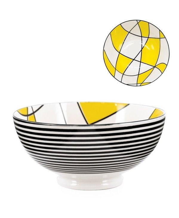 Bol Torre & Tagus Kiri en Porcelaine 8 pouces Abstract Yellow