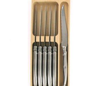 Ens. de 6 couteaux Laguiole (Inox)