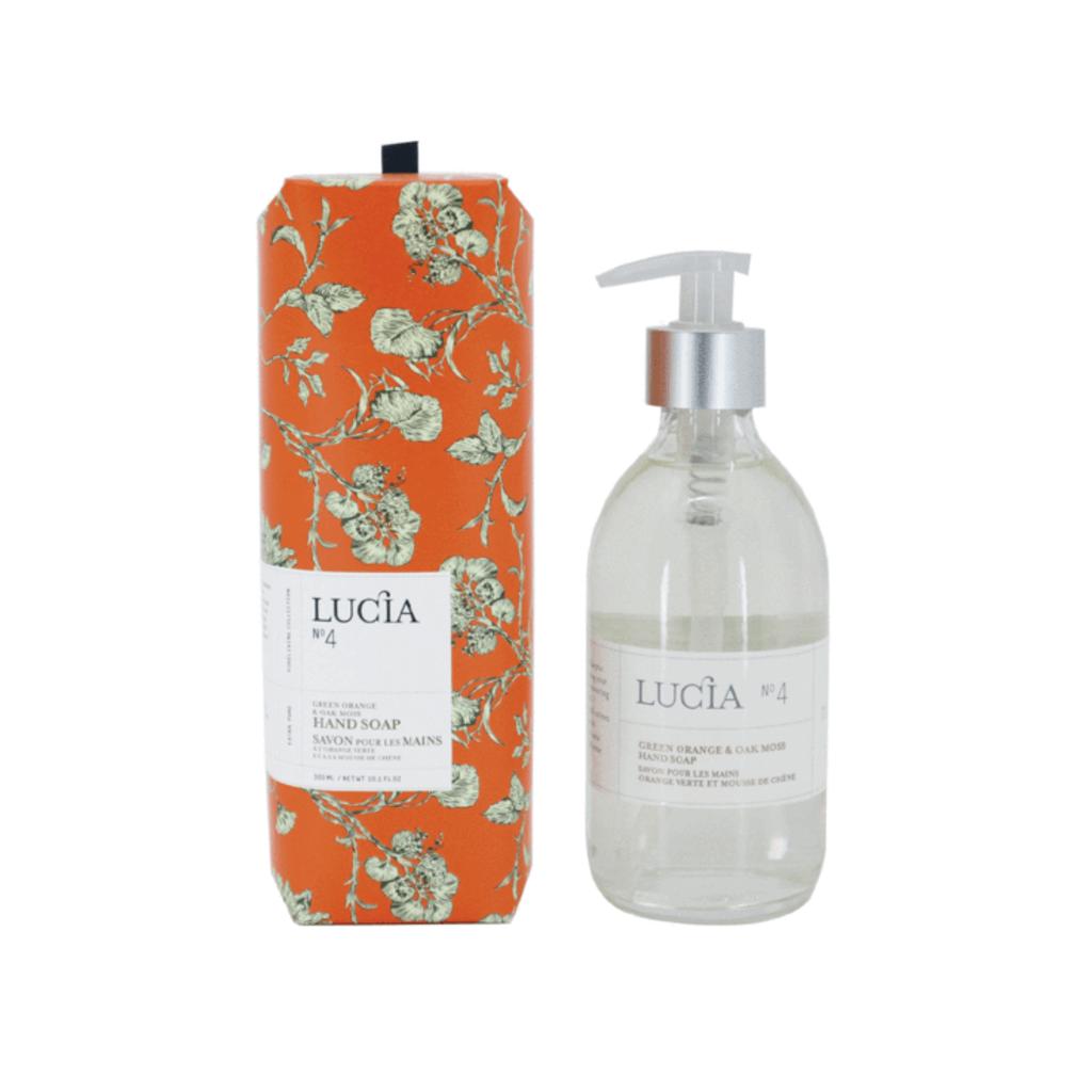 Lucia N°4 Savon pour les mains à l'orange verte et mousse de chêne Lucia