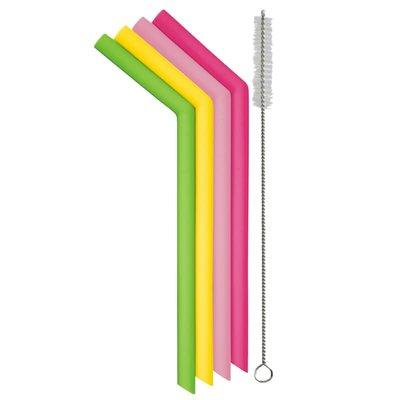 Smoothie pailles réutilisables en silicone Danesco