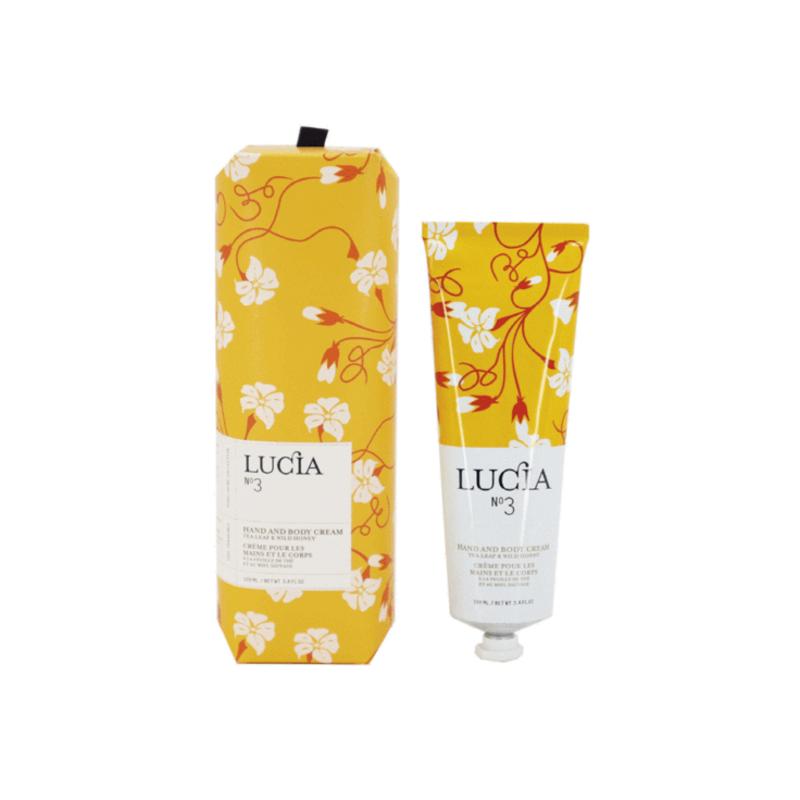 Lucia N°3 Crème pour les mains et le corps Feuille de thé et miel sauvage Lucia