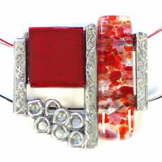 Cré-Art Collier Cré-Art Verre Fusion Rouge