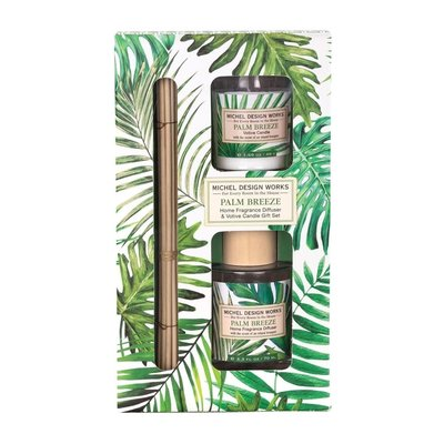 Michel Design Works Coffret bougie et diffuseur Palm Breeze Michel Design