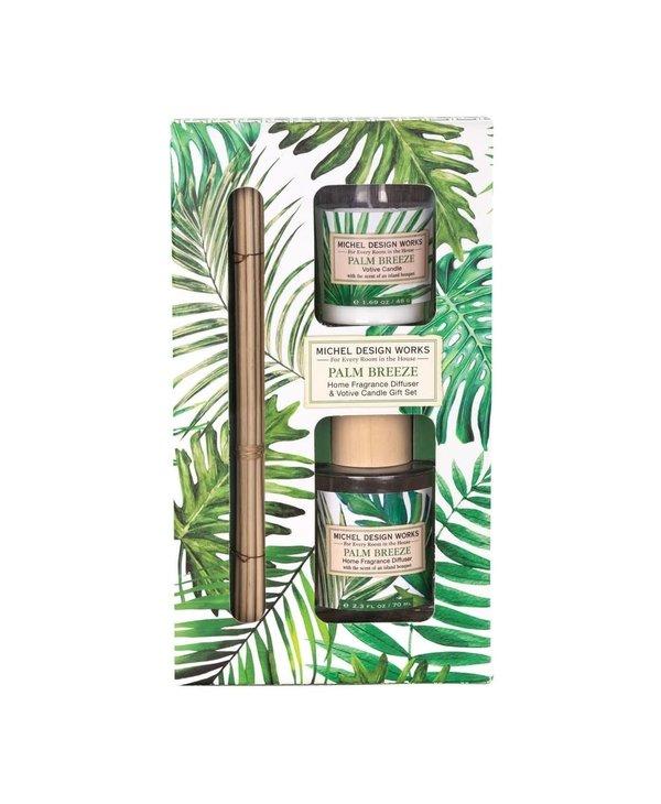 Coffret bougie et diffuseur Palm Breeze Michel Design Works