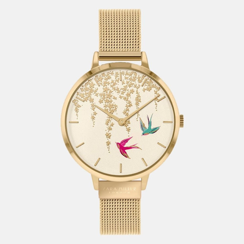 Sara Miller Montre Sara Miller SWALLOW GOLD MESH WATCH sa4042