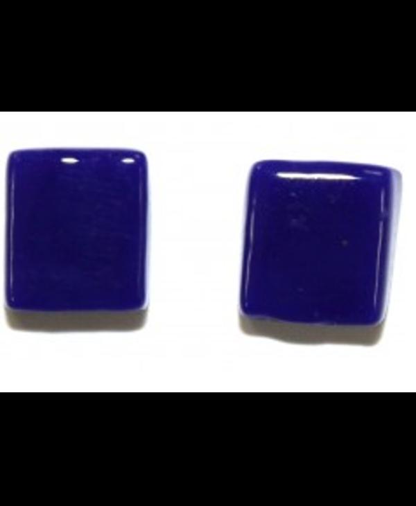 Boucle d'oreille Cré-Art Carré Bleu