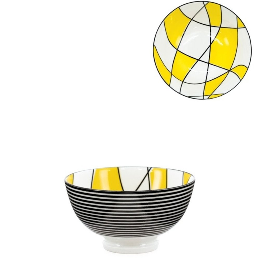 Torre & Tagus Bol Torre & Tagus Kiri en Porcelaine 4.5 pouces - Abstract Yellow
