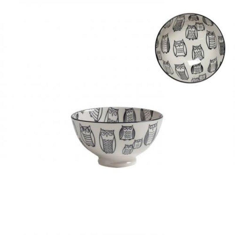 Torre & Tagus Bol de porcelaine kiri owl outline 4.5''