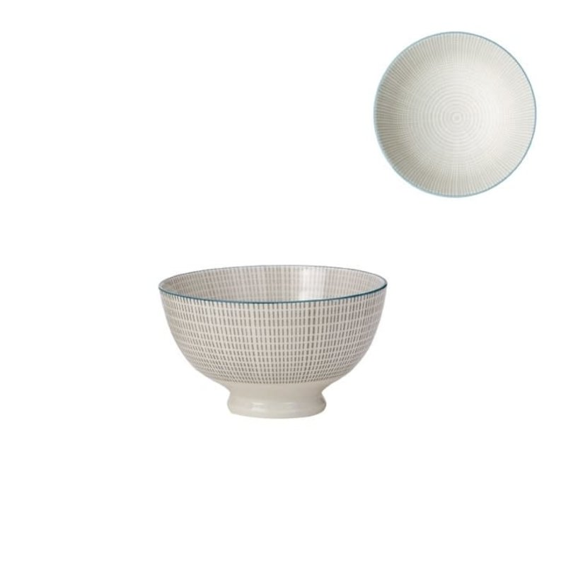 Torre & Tagus Bol de porcelaine Kiri 4.5 grey with blue trim