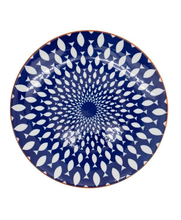 Assiette Kiri Porcelain 8.5 Side Plate - Fish