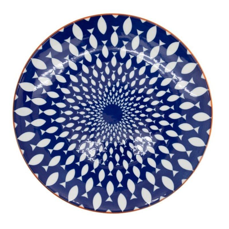 Torre & Tagus Assiette Kiri Porcelain 8.5 Side Plate - Fish