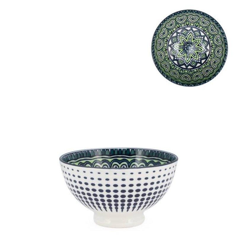 Torre & Tagus Bol Kiri en porcelaine 4.5 Green Mandala