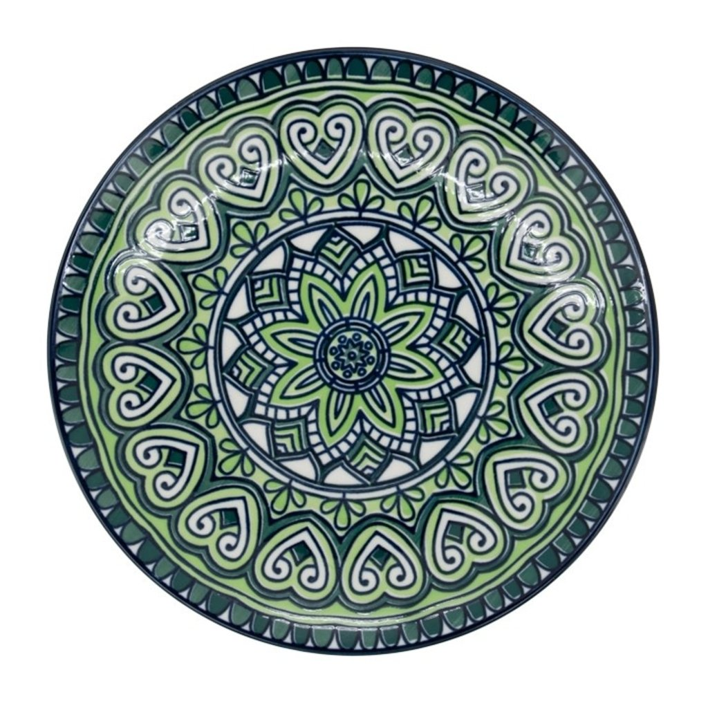 Torre & Tagus Kiri Porcelain 8.5 Side Plate - Green Mandala