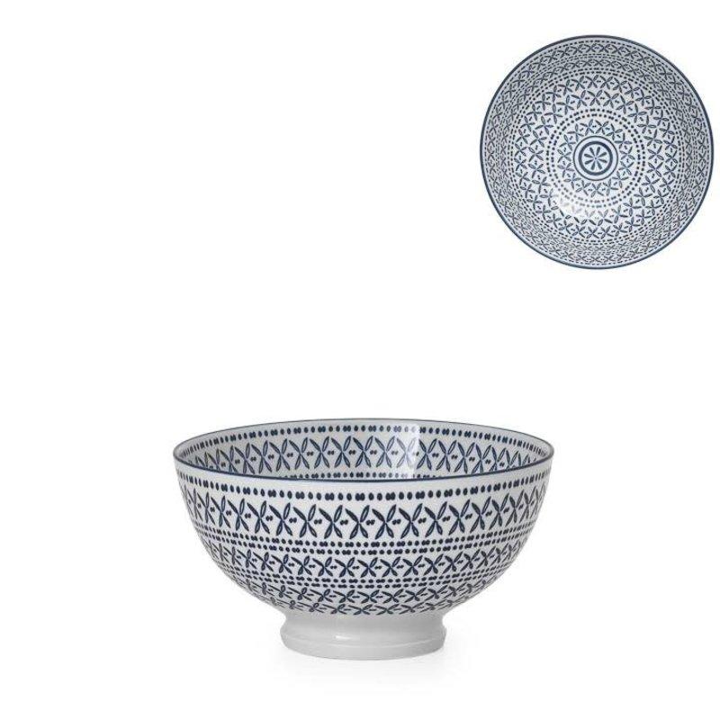 Torre & Tagus Bol en porcelaine Kiri 4.5 Blue Stitch