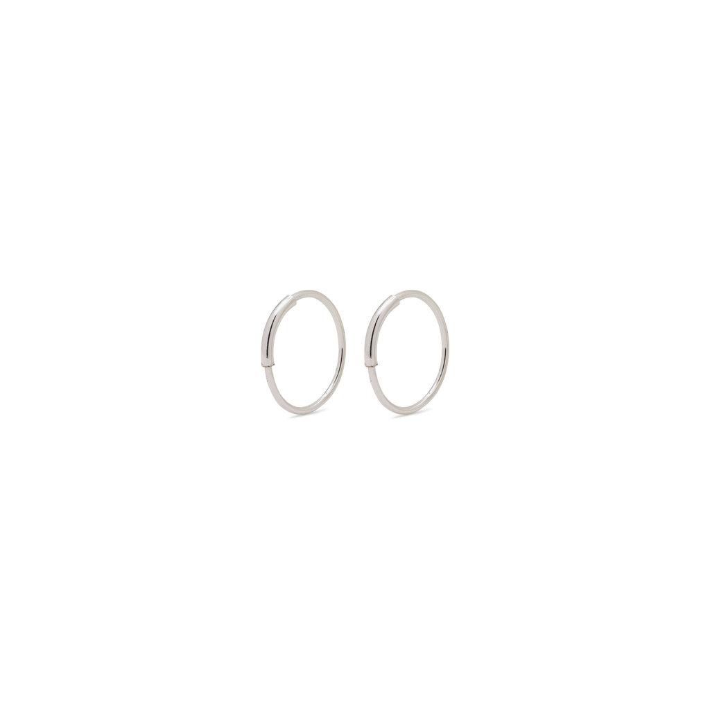 Pilgrim Mini anneaux Pilgrim Raquel 12 mm argent