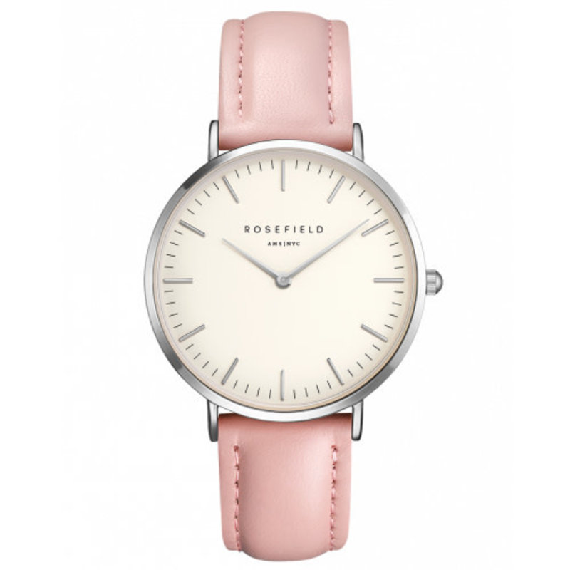 Rosefield Montre Rosefield The Bowery Blanc-Rose