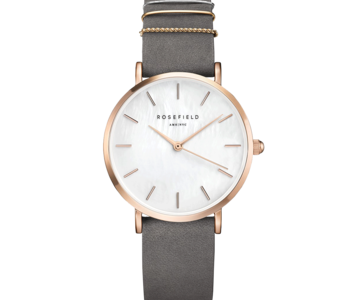 Montre Rosefiled The West Village Gris Menthe - Or rose -33mm