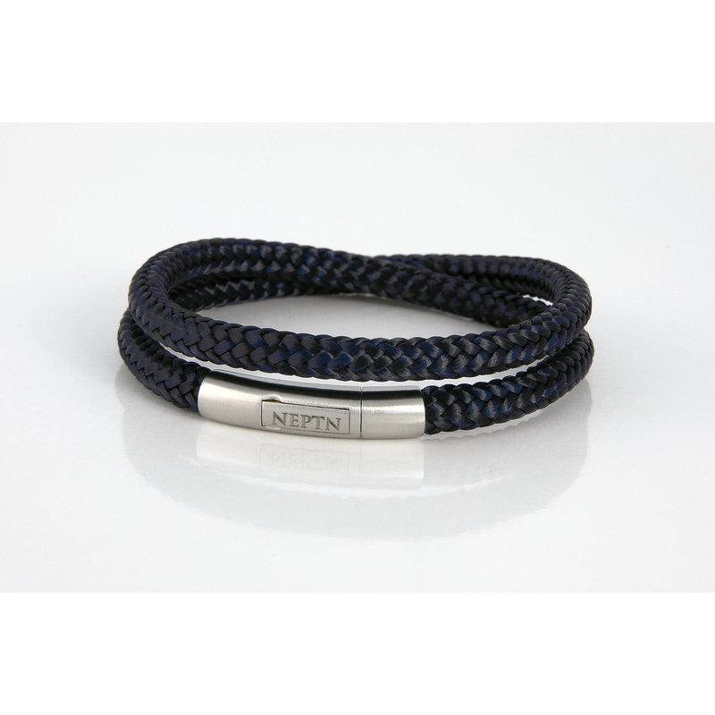 Neptn Bracelet Neptn Pro Steel double 6R noir marine en corde