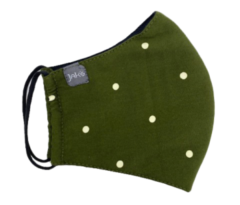 Masque Jaks vert à pois
