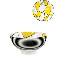 Torre & Tagus Bol Torre & Tagus Kiri en Porcelaine 6 pouces Abstract Yellow