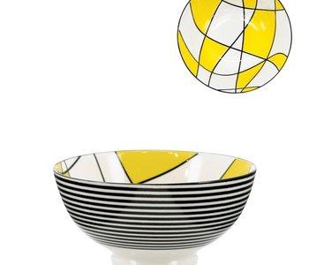Bol Torre & Tagus Kiri en Porcelaine 6 pouces Abstract Yellow