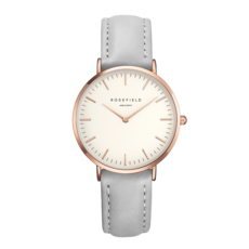 Rosefield Montre Rosefield The Bowery Blanc Gris rose 38mm