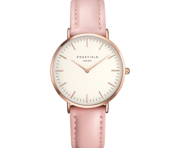 Montre Rosefield The Tribeca Blanc rose 33mm