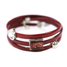 Cré-Art Bracelet Cré-Art Le Twist Rouge