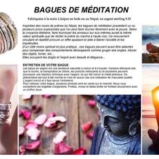 Aux  3  Muses Bague de méditation La Pure