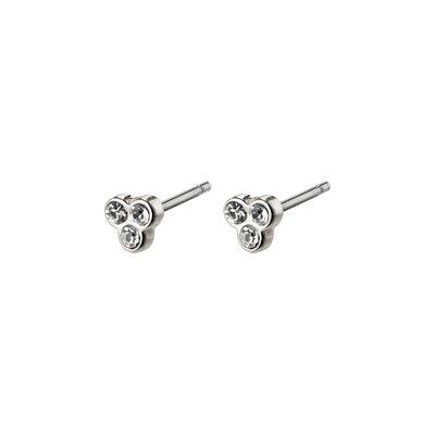 Pilgrim Petites boucles d'oreilles cristal Pilgrim Caily argent