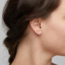 Pilgrim Boucles d'oreilles en chenille avec cristaux Pilgrim