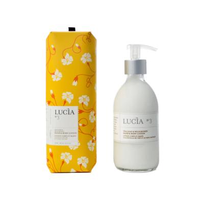 Lucia N°3 Lotion corps et mains à la feuille de thé et au miel sauvage Lucia