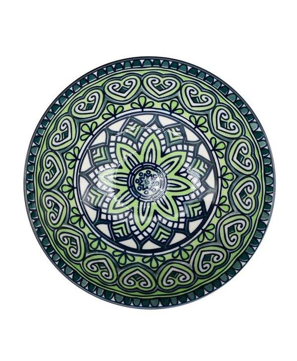 Bol Kiri en porcelaine 6 Green Mandala