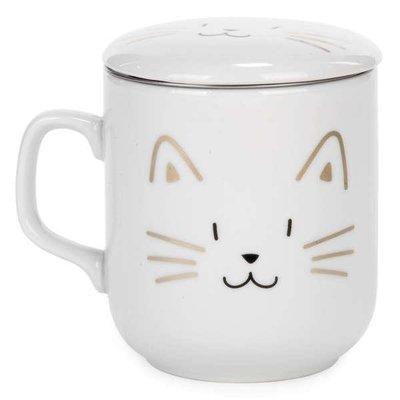 Tasse de thé avec chat