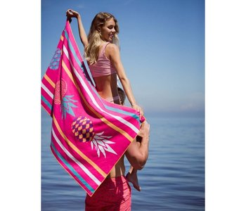 Serviette de plage Solem Satine à pois
