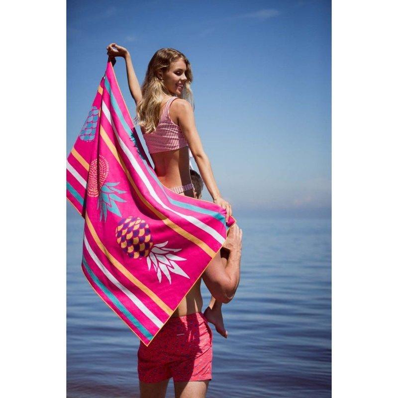 Solem Serviette de plage Solem Satine à pois