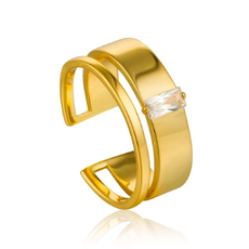 Ania Haie Bague Ania Haie Gold Glow wide adjustable