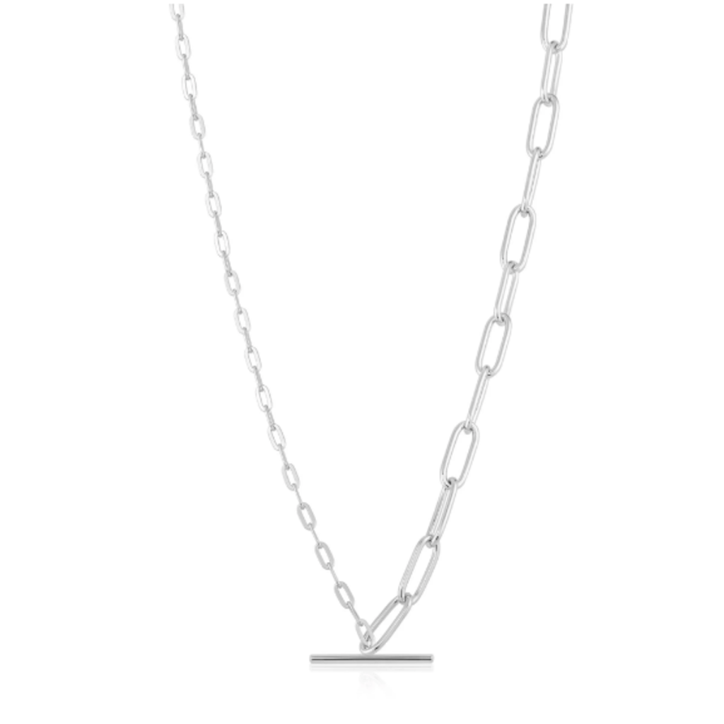 Ania Haie Collier Ania Haie Silver Mixed Link T-bar