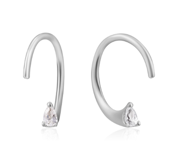 Boucles d'oreilles Ania Haie Silver Twist Sparkle