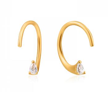 Boucles d'oreilles Ania Haie Gold Twist Sparkle