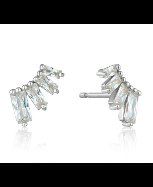Boucles d'oreilles Ania Haie Glow Bar Silver Stud