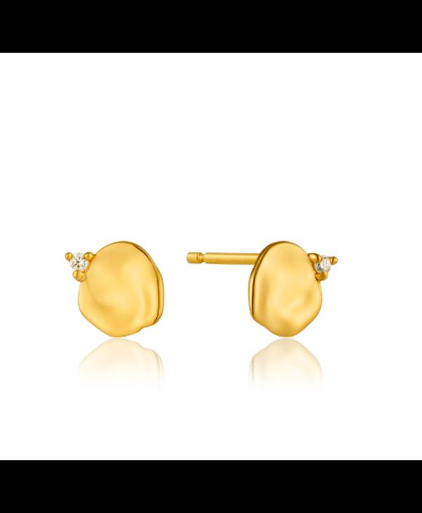 Boucles d'oreilles Ania Haie Gold Crush Disc Stud