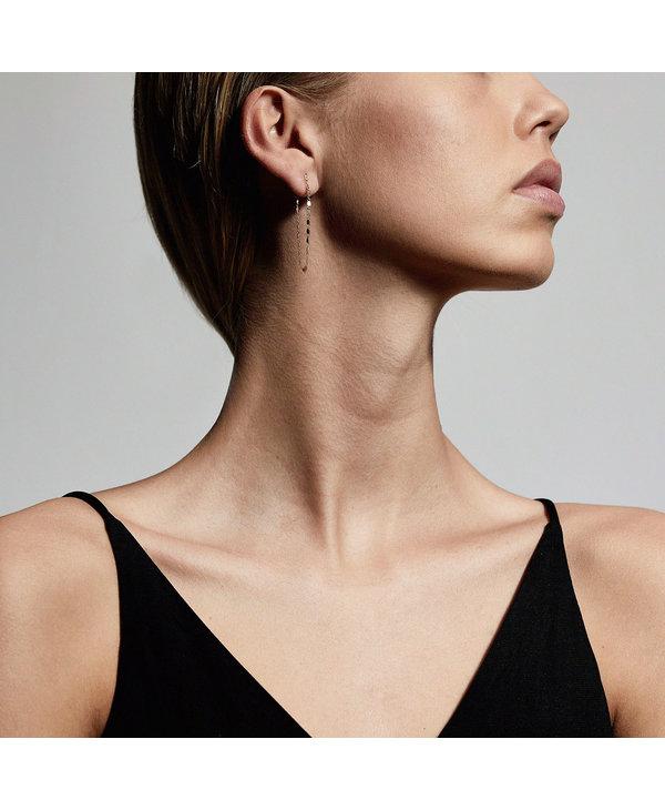 Boucles d'oreilles en chaîne Pilgrim Intuition Argent