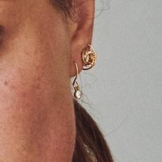 Pilgrim Boucles d'oreilles cristal Pilgrim Lucia or