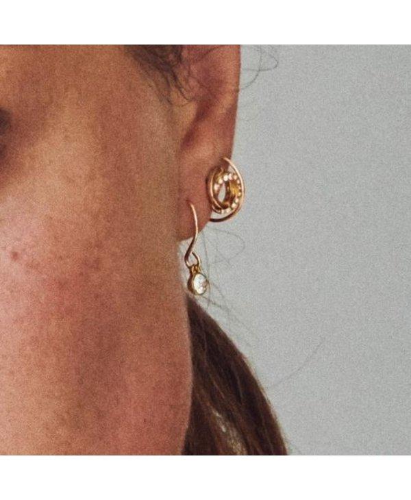 Boucles d'oreilles cristal Pilgrim Lucia or