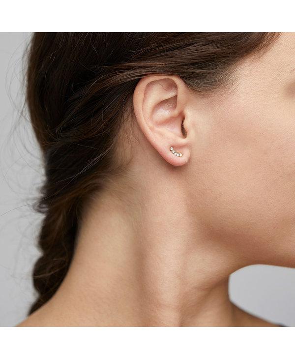 Boucles d'oreilles cristal montantes Pilgrim Anita or