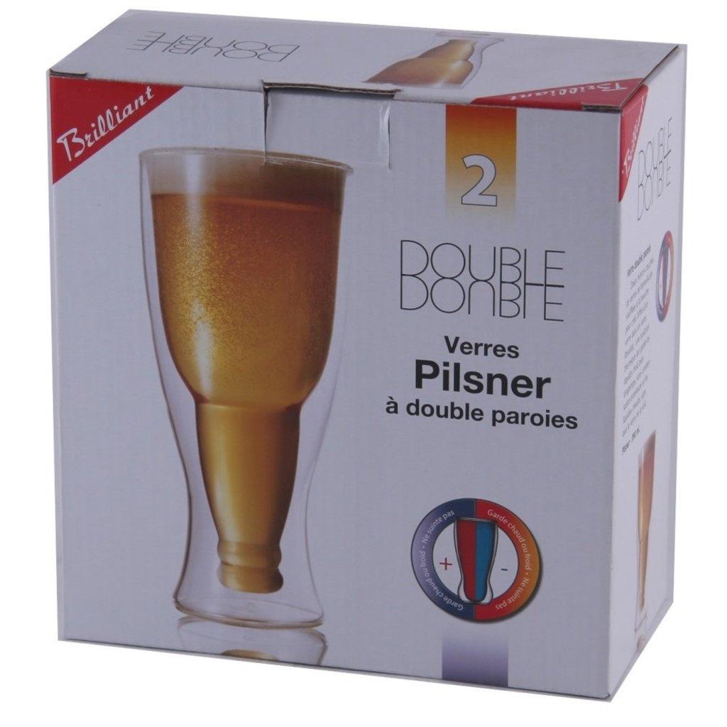 I.C.M. Double Verre Bière/Pilsner 350 ml ensemble de 2
