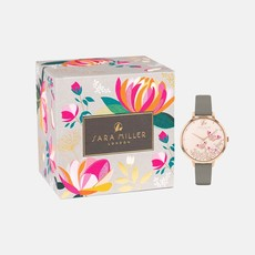 Montre Sara Miler BUTTERFLY ROSE GOLD GREY WATCH sa2080